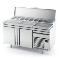 Mesas refrigeradas de ingredientes